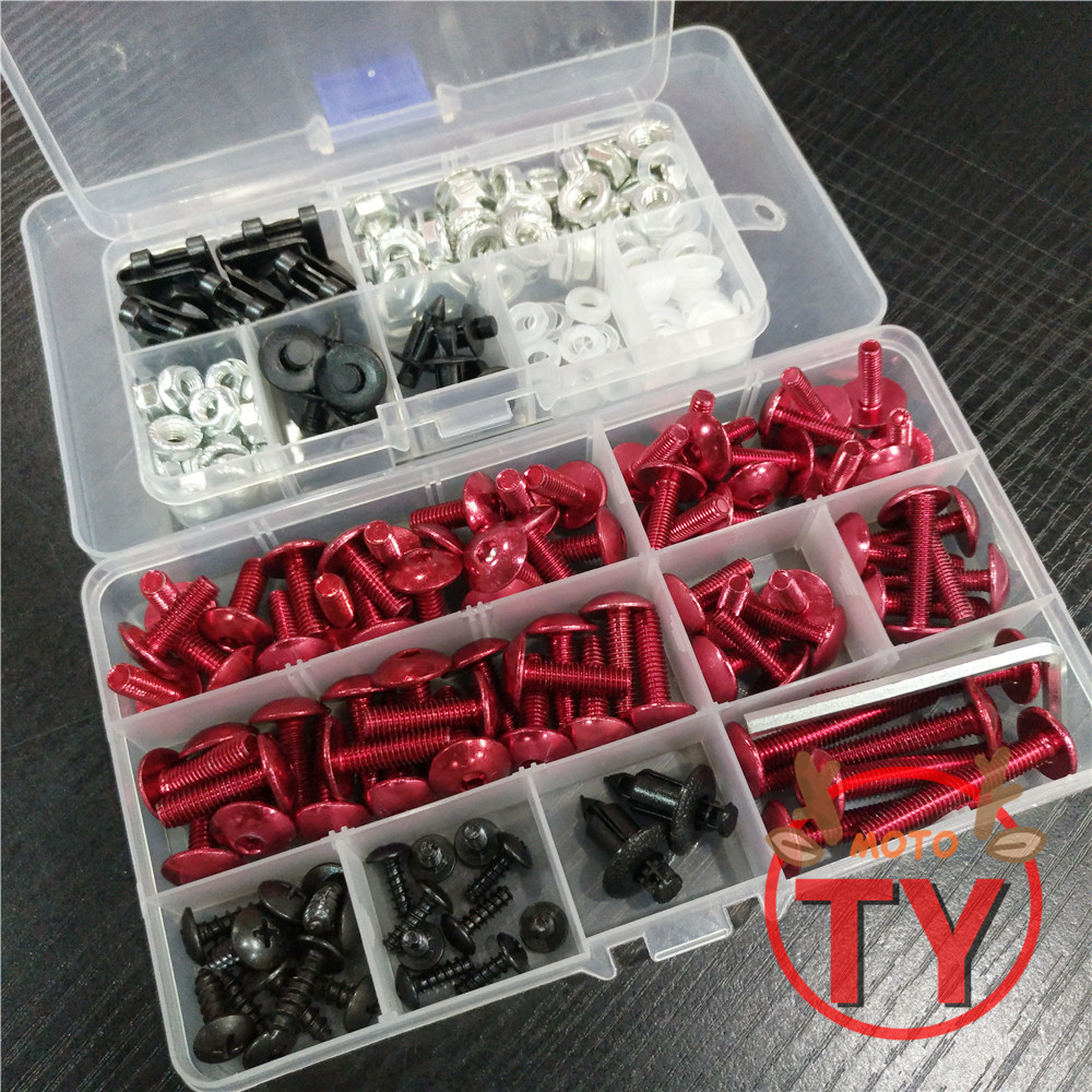 Universal Motorcycle Fairing Bolts Screw Moto Spring Bolts For <font><b>SUZUKI</b></font> <font><b>GSXR</b></font> 600 750 <font><b>1000</b></font> K1 K2 K3 K4 K5 K6 K7 <font><b>K8</b></font> K9 K10 image