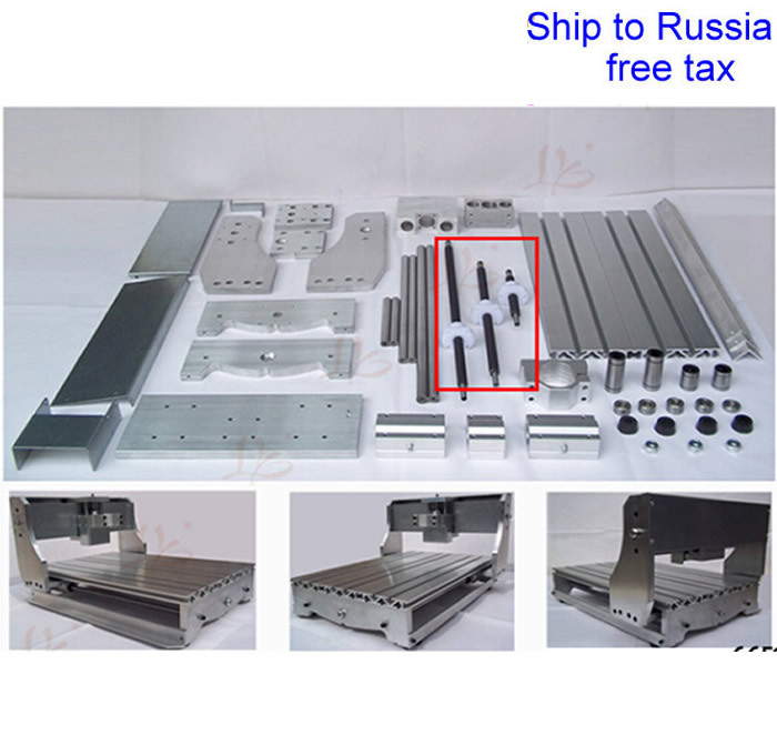 DIY 3040T CNC frame kit of engraving machine with trapezoidal screw optical axis and bearings to Russia free tax free tax to eu high quality cnc router frame 3020t with trapezoidal screw for cnc engraver machine