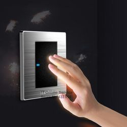 High quality 1 gang single double control click wall switch brushed stainless steel panel led indicator.jpg 250x250