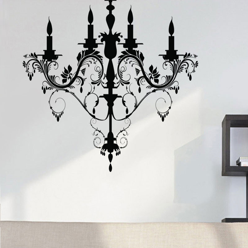 Free shipping The corridor living room chandelier decorative stickers removable wall PVC diy wallpaper