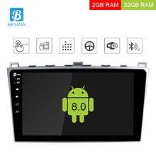 Besina 10,1 дюймов Android 8,0 автомобильный мультимедийный плеер для MAZDA 6 2008-2012 2013 2014 2015 автомобильный Радио gps навигация 2 г + 32 г стерео
