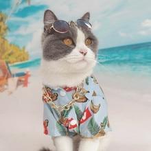 Kitten Clothes Beach Hawaiian Style Clothing for Cats Pet Cat Hairless Sphinx  Ropa Para Gato