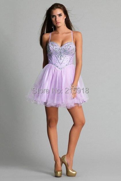Short Light Purple Prom Dress - Missy Dress