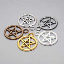 Metal Pentagram Charms for Jewelry Making Accessories Classic DIY Handmade Fashion Star Pendant Wholesale 30pieces/lot