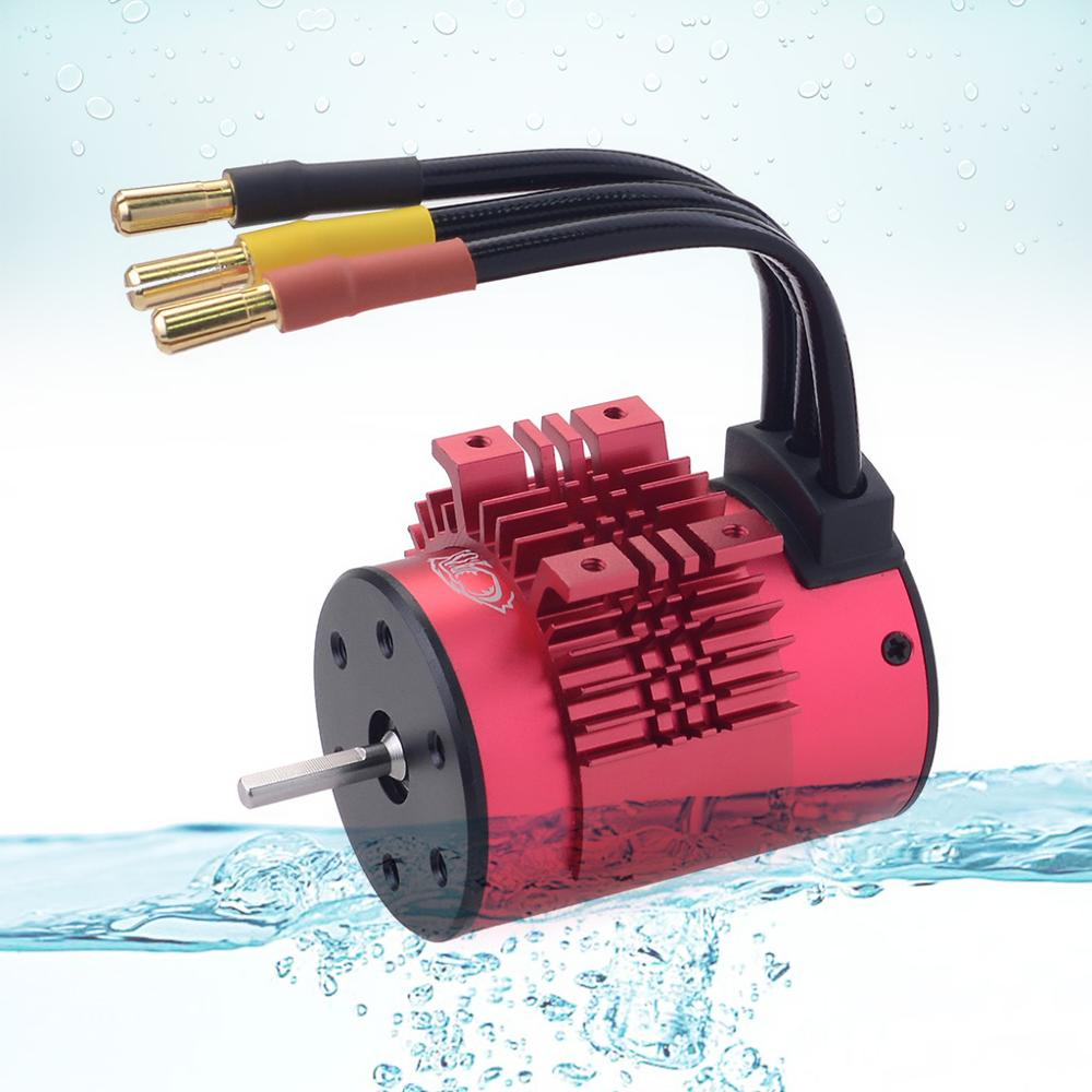Image 3 - KK Waterproof Combo 3650 1650KV 2050KV 2300KV 3100KV 3600KV 4500KV Brushless Motor w//Heat Sink 60A ESC for RC 1/10-in Parts & Accessories from Toys & Hobbies