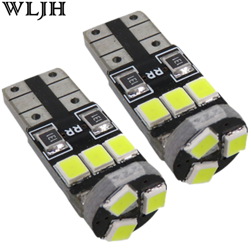 WLJH 6x Canbus T10 LED W5W Light 2835SMD Car Interior Light Source Dome Map Door Glove Box Courtesy Cargo Trunk Number light