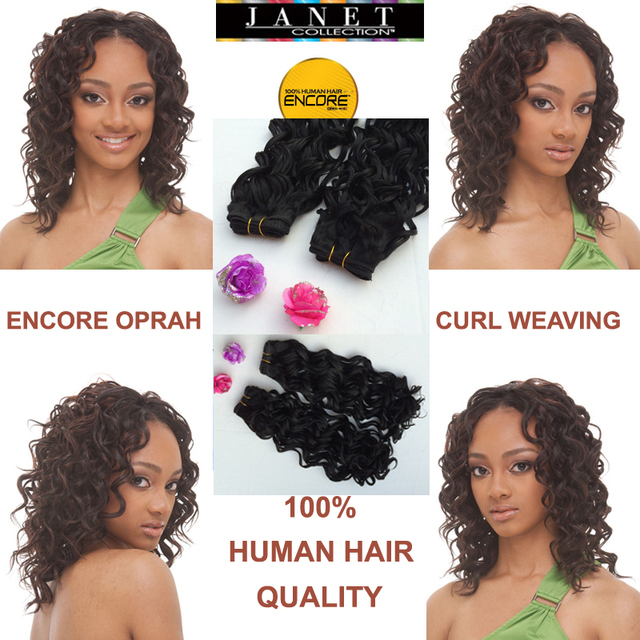 Janet Collection Encore Naked Oprah Curl Weaving Pro Mix Blended