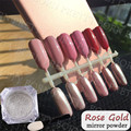 BORN PRETTY Rose Gold Effect 1g Mirror Silver Glitter Powder Chrome + 1 bottle 10ml Soak off UV Gel Set Manicure Nail Tool