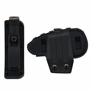 Image 4 - V8 BT Bluetooth del Casco Del Motociclo Citofono 1200M per 5 Piloti Interphone Auricolare A Distanza di Controllo FM radio