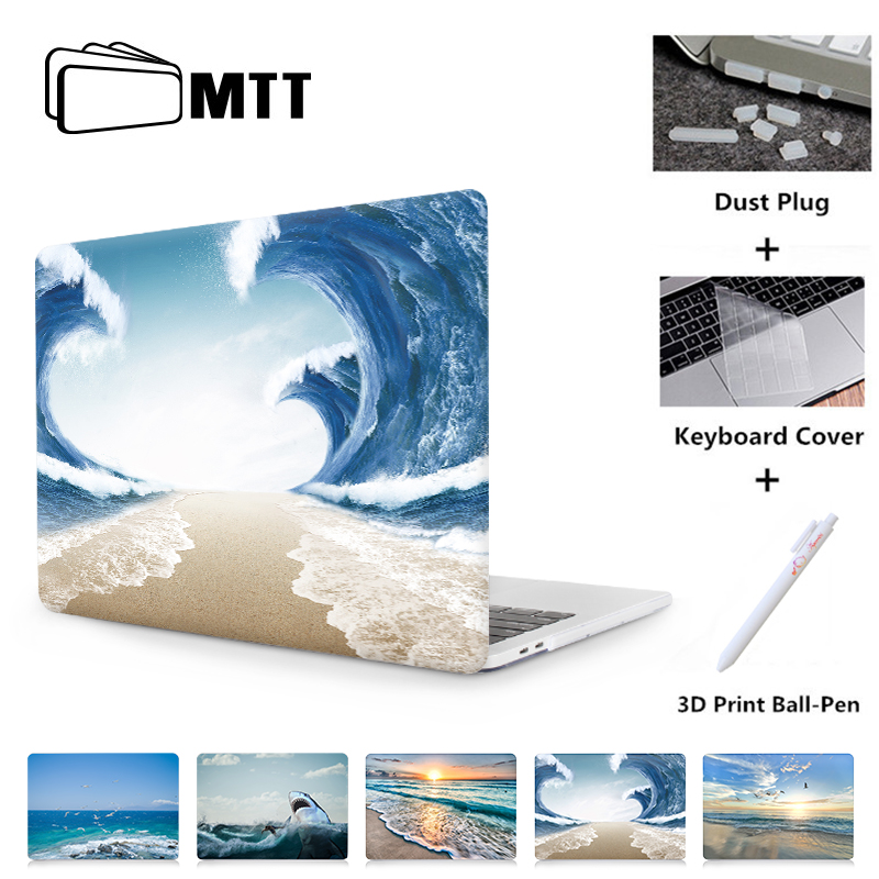 MTT Case For Macbook Pro Retina 13 15 With Touch Bar Hard Cover For Mac Book Air 11 13.3 New 12 Inch Summer Beach Laptop Sleeve