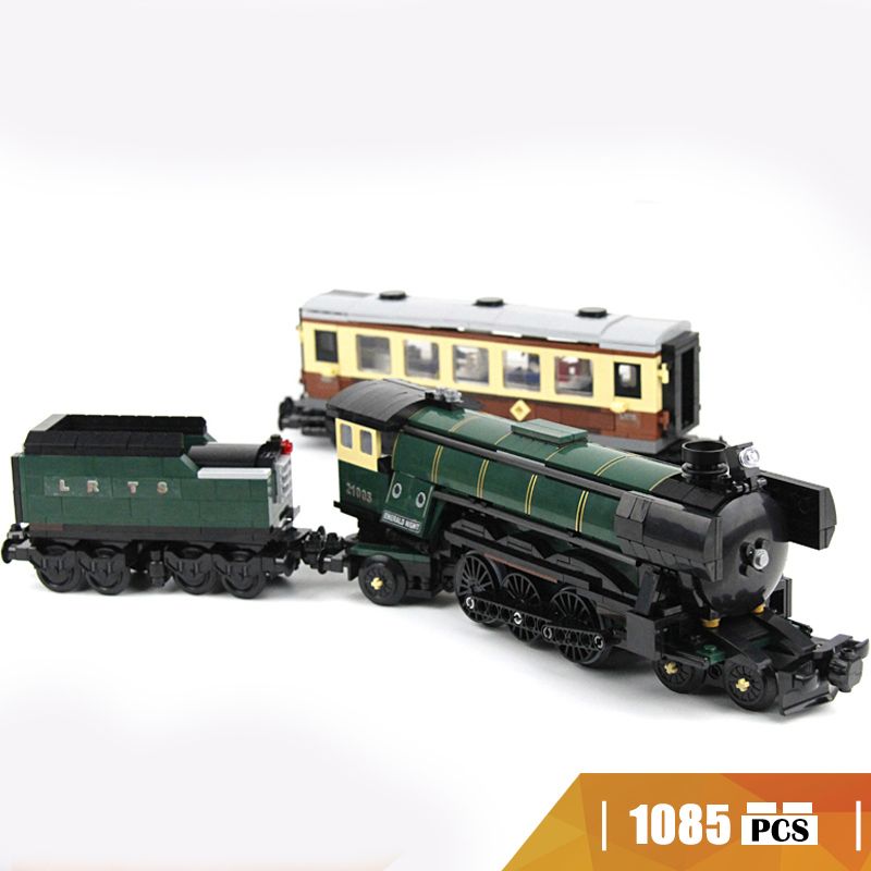 21005 Compatible with Lego blocks technic 10194 Emerald Night Train Model building toys hobbies Educational bricks for children