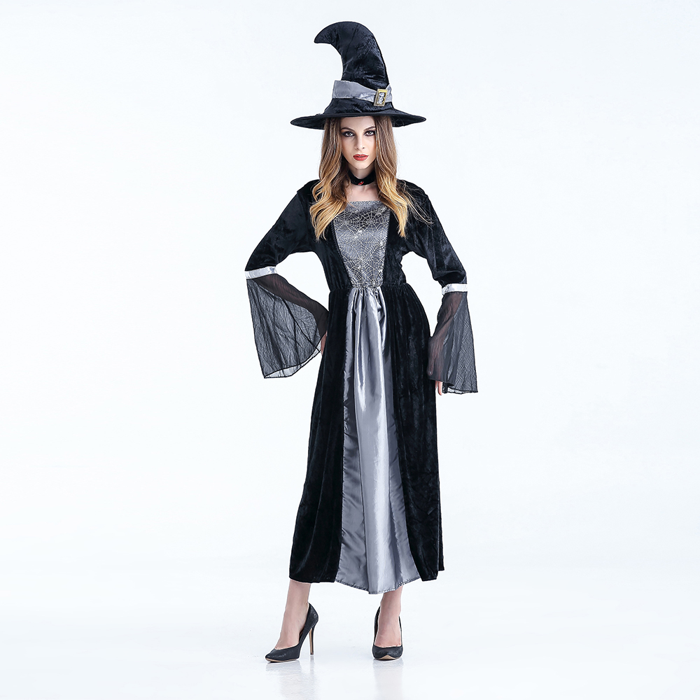 Long sexy Witch Costume Deluxe Adult Womens Magic Moment Costume Adult Wizard of Oz Khecari cosplay halloween costumes