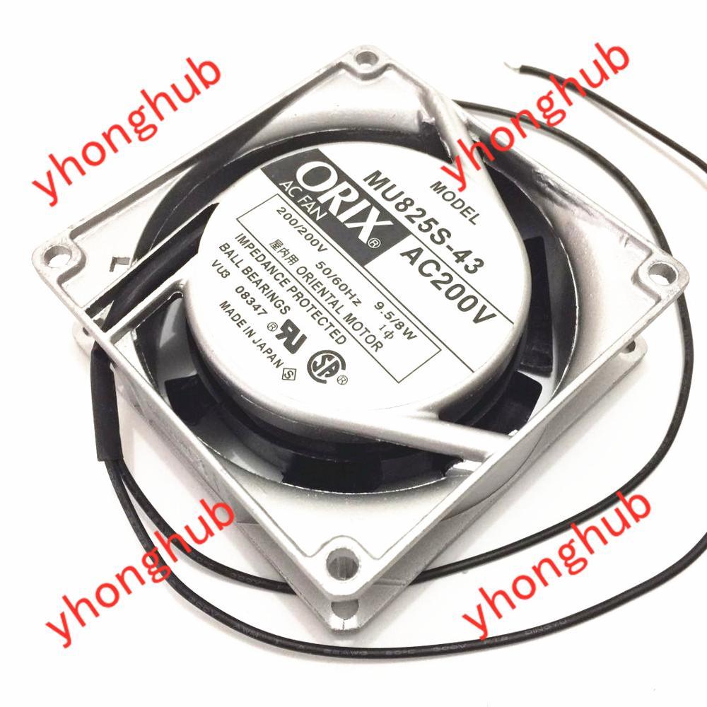 Emacro pour ORIX MU825S-43 serveur refroidisseur ventilateur AC 200 V 0.08A 80x80x25mm 2 fils