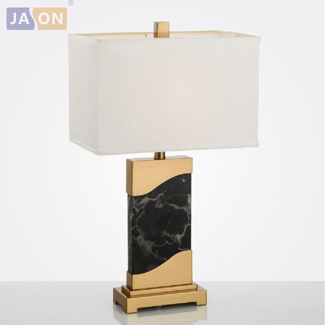Led E27 Postmodern Iron Black Marble Fabric Led Lamp Led Light Table