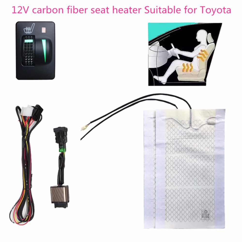 upgrade 2 seats heated seat seat heater fit Toyota Prado Corolla RAV4 Reiz Yaris Camry Crown