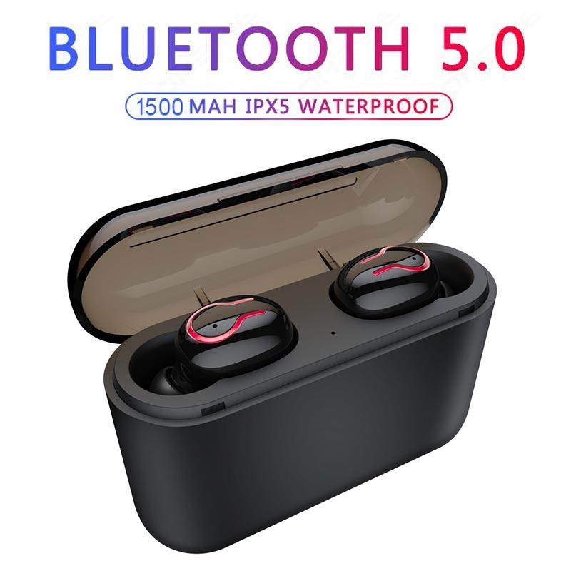 Twinbuys TWS Bluetooth 5.0 earphones Wireless headphone HiFi Stereo Earbud Sport headset with MiC Charging Box For xiaomi iphone