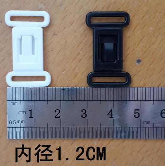 50 sets plastic Hardware Sets adjustable tape accessories black clasps & hooks eye set bow tie clip buckles