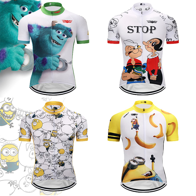 Crossrider 2019 Cartoon Cycling Jersey Funny Mtb Bicycle Clothing Short Bicycle Clothing Ropa Maillot Ciclismo Bike Wear Clothes