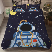 A Bedding Set 3D Printed Duvet Cover Bed Space astronaut Home Textiles for Adults Bedclothes with Pillowcase #ETTK02