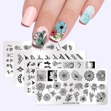 Николь дневник пластины для штамповки ногтей геометрические цветы мульти шаблон ногтей штамп трафарет шаблон инструменты