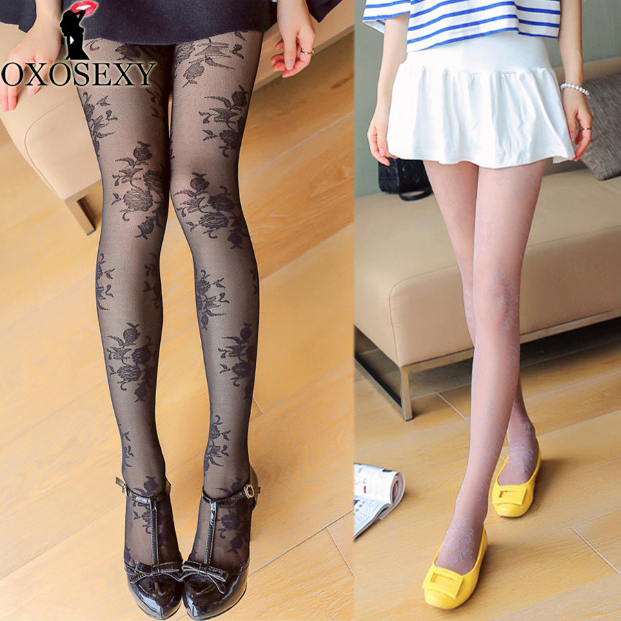 fishnet tights T-crotch 3D embossed rose Retro princess pantyhose Women stockings Thin Mesh stockings sexy tights For Girl 52
