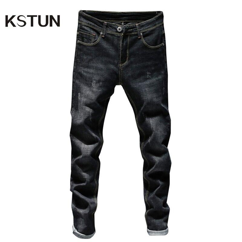 KSTUN Mens Black Jeans Blue Jeans Spring and Autumn Business Casual Slim Fit Elasticity Denim Pants Classic Style man jean homme 9