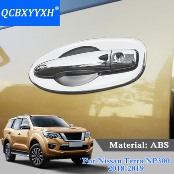 QCBXYYXH ABS 8pcs Car Styling Car Door Bowl Frame Cover External Decoration Sequins For Nissan Terra Navara NP300 2018-2019 image