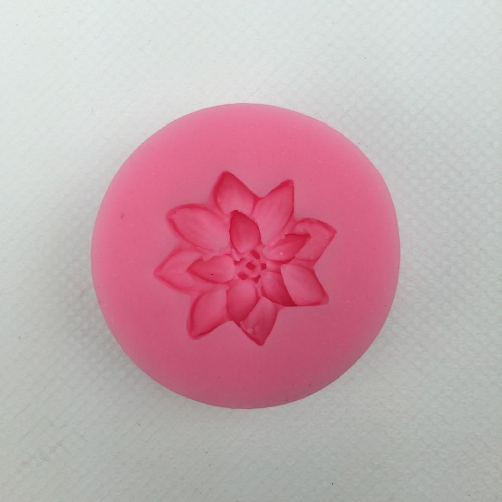 Free shipping flower silicone mold chocolate fondant cake decoration Soap baking kitchen tool FT-285