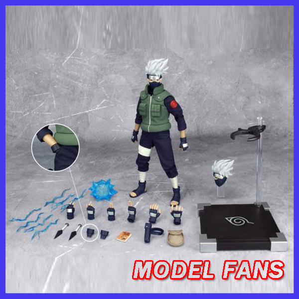 MODEL FANS Inflames Toys NARUTO 30cm height 1/6 Hatake Kakashi contain two head action figure toy for Collection original box anime naruto action figures lightning blade hatake kakashi figure pvc model 12cm collection children baby kids toys