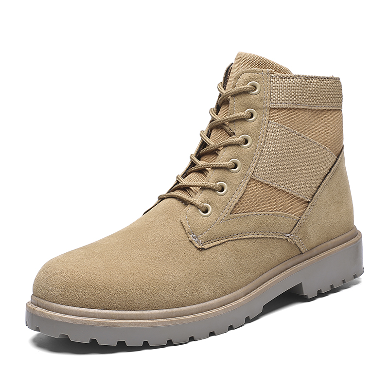 Men's Outdoor Work Shoes Autumn Winter Keep Warm Fashion Sneakers Work Shoes Man High Boots Lace-up Non-slip Trend Casual Shoes hot sale winter new men winter snow boots brand outdoor keep warm fashion casual shoes ankle lace up non slip man cotton shoes