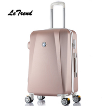 LeTrend Korean Fashion Rolling Luggage Spinner Trolley 24inch Women Suitcase Wheel Travel bag 20inch Men Password Carry On Trunk