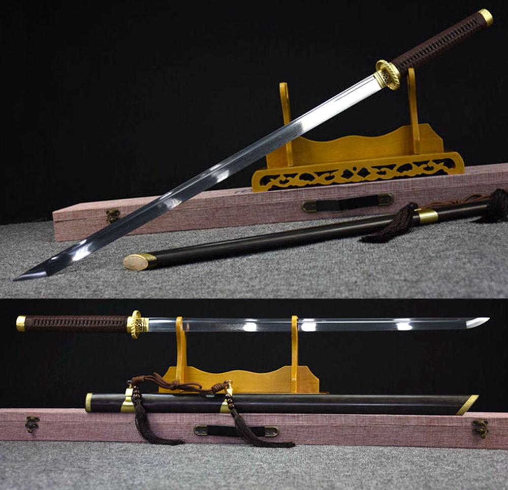 Acquista A Buon Mercato Di Alta Quallty Di Guaina Di Rame Giapponese Samurai Spada Katana Piegato-forgiatura Lama In Acciaio Di Damasco Sharp Ninja Lama Diritta Spade
