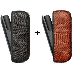 Image 2 - Jinxincheng 2Pc Lot Leather Case Voor Iqos 3 Cover Pouch Voor Iqos 3.0 Beschermende Houder Tas Accessoires