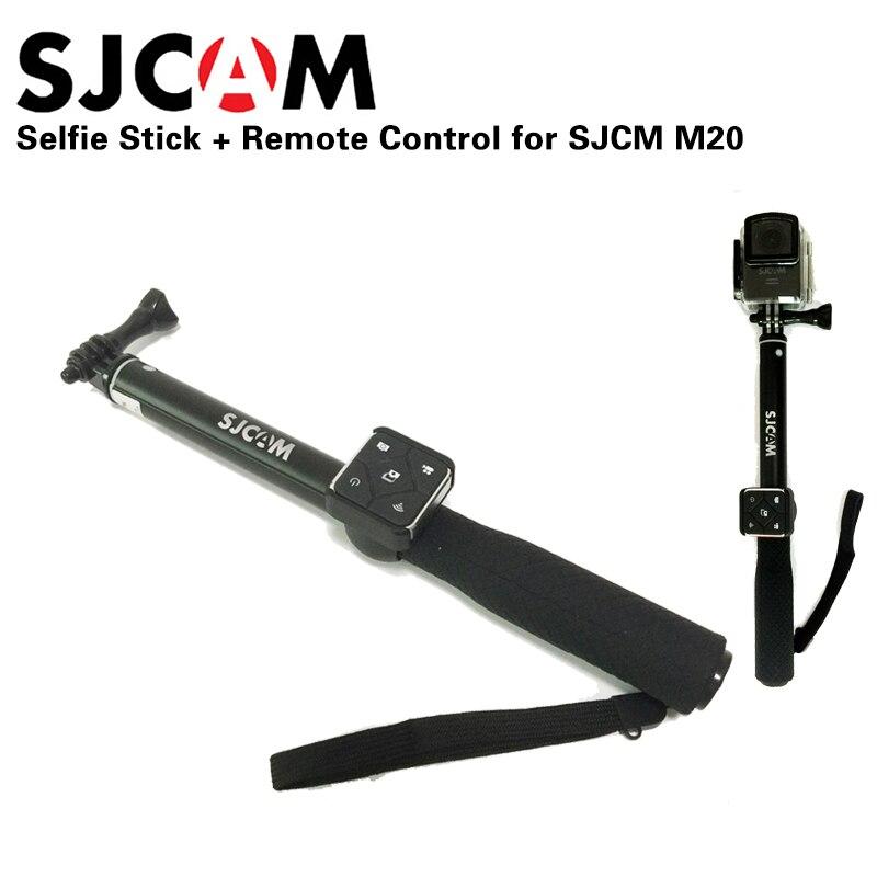 Newest Original SJCAM Aluminum Monopod Selfie Stick + Remote Control for SJCAM M20 SJ6 LEGEND SJ7 Star WiFi sport camera