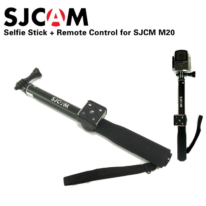 Original SJCAM Control remoto de aluminio Selfie Stick Monopod para SJCAM M20 SJ6 leyenda SJ7 estrella SJ8 serie acción Cámara