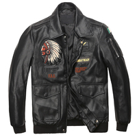 Plus Size 5XL Spring Mens Leather Biker Jacket and Coats Indian Avatar Designer Man Motorcycle Avirex Leather Suede Jackets A497
