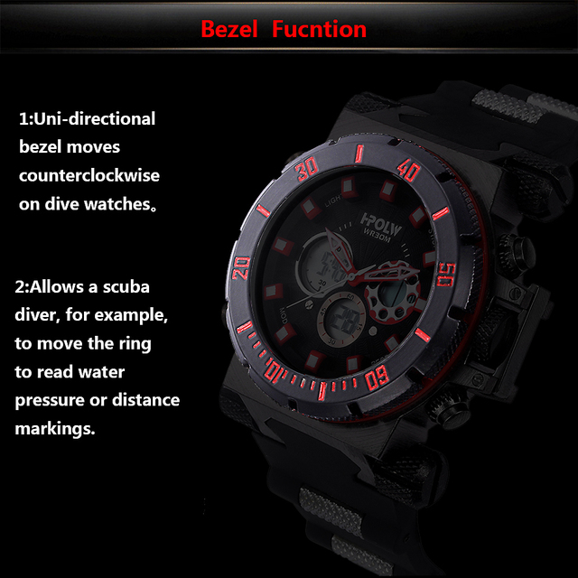 HPOLW Luxury Brand Mens Sports Watches Dive Digital LED Military  Watch Men Fashion Casual Electronics Wristwatches Clock 4