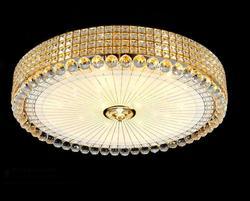 Eenvoudige Ronde Persoonlijkheid Romantische Gouden Led Plafondlamp Plafondlamp Woonkamer Slaapkamer Hotel Gang Home Verlichting Hm