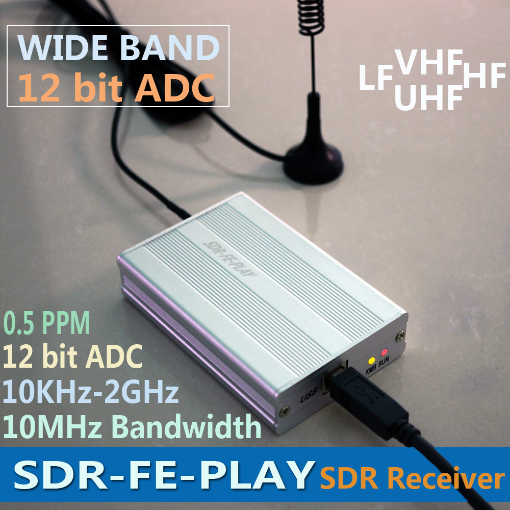 Wideband Full Featured 12bit SDR Receiver SDRPLAY RSP1 RSP2 RTL-SDR HackRF Upgrade AM FM HF SSB CW receiver Full band HAM Radio sdr cc 309 full band detector detection camera