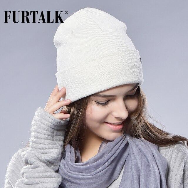 FURTALK Spring Wool Watch Cap Beanie Knit Hat His-and hers Skull Cap Women Wool Hat