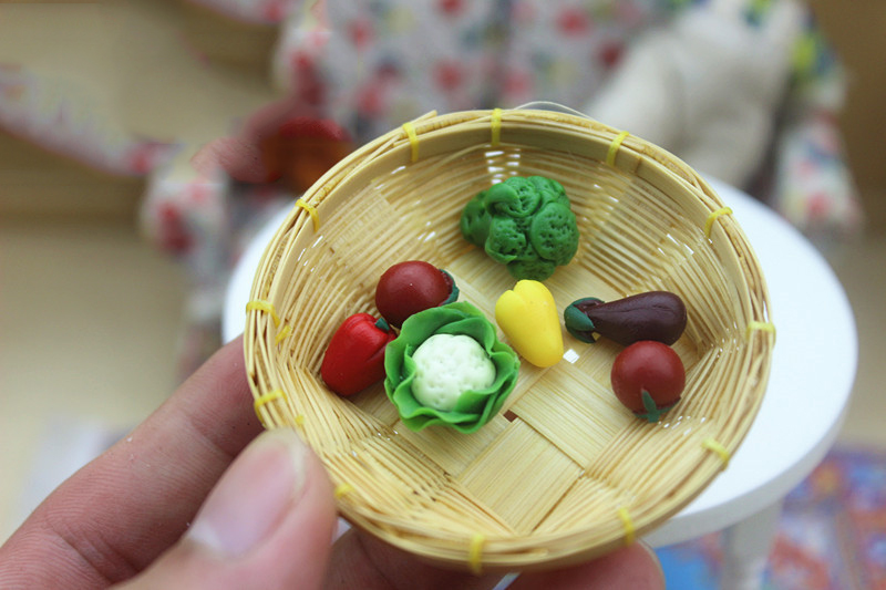 Wholesale 1:12 Dollhouse Miniature Mini Vegetables Doll Accessories Toy Match For Forest Animal  Collectible Gift