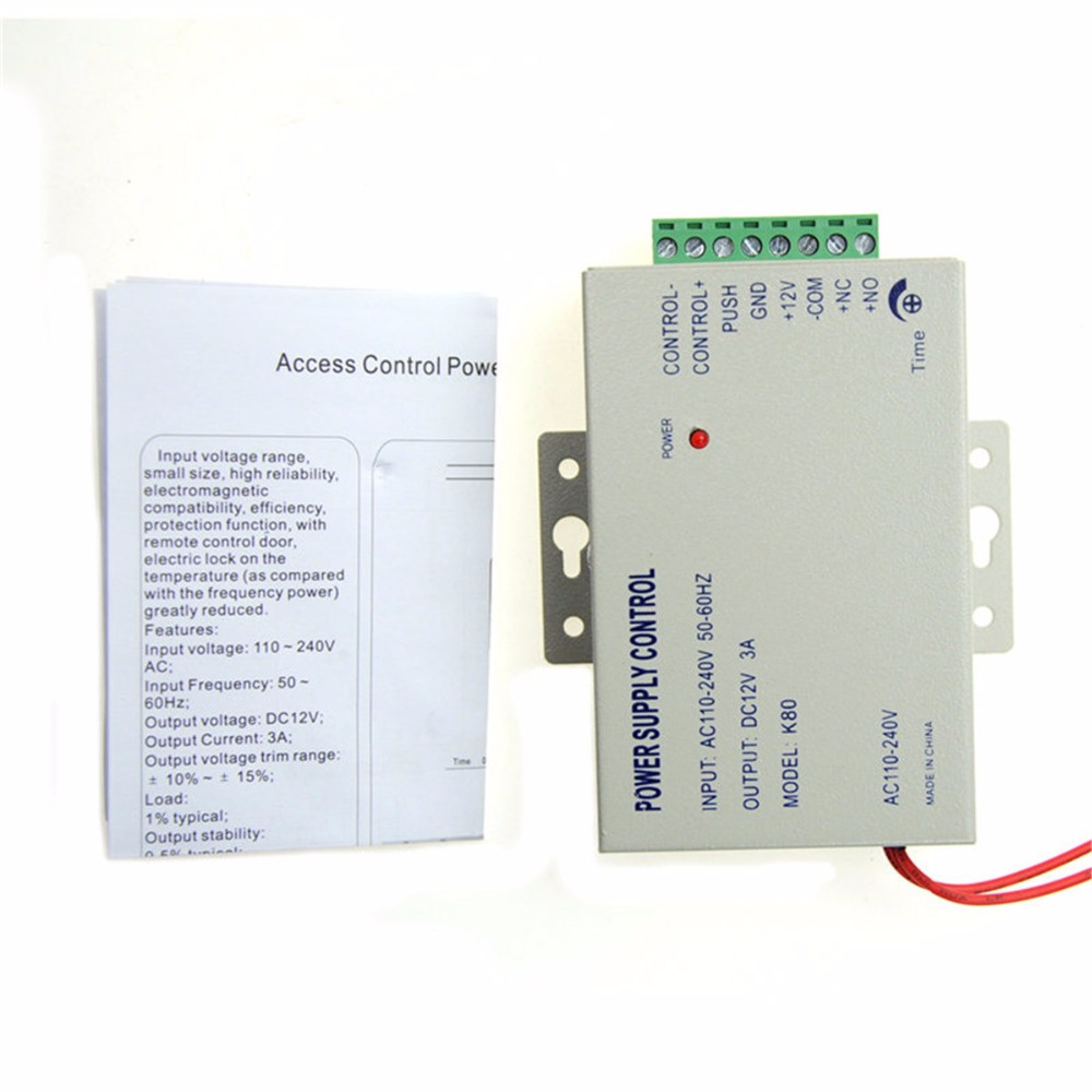 DC 12V Door Access Control system Switch Power Supply 3A 5A / AC 110~240V RFID Fingerprint Access Control System biometric fingerprint access controller tcp ip fingerprint door access control reader