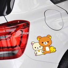 Newest Car Sticker Cartoon Bear Rilakkuma Chicken Combination Car Cover for Tesla Toyota Volkswagen Chevrolet Ford Fiat BMW Lada(China)