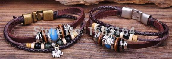 G68 2pc Surfer Leather Wood...