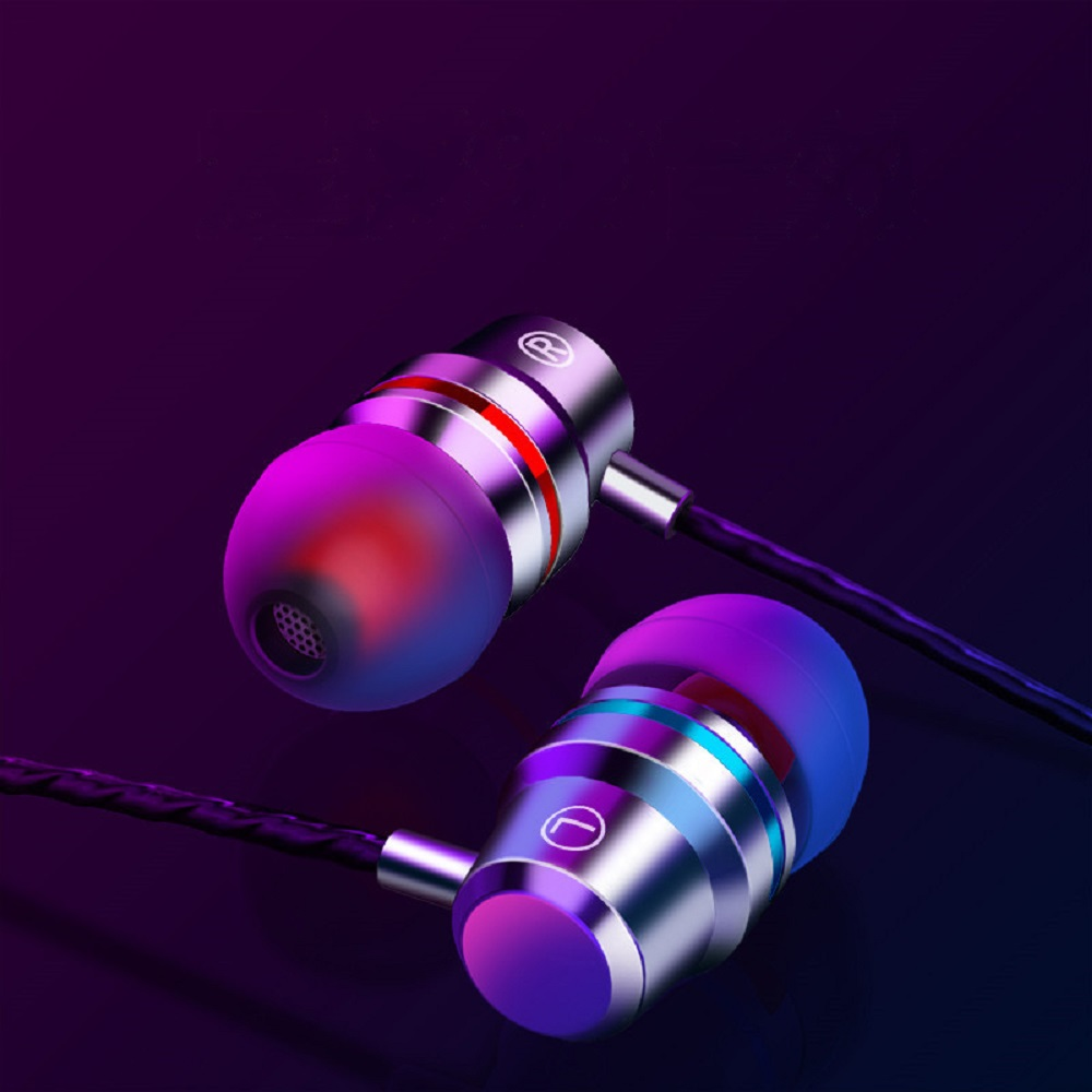 Wired Earbuds Earphone 3.5mm In Ear High-quality With Microphone Volume Adjustment Button Stereo