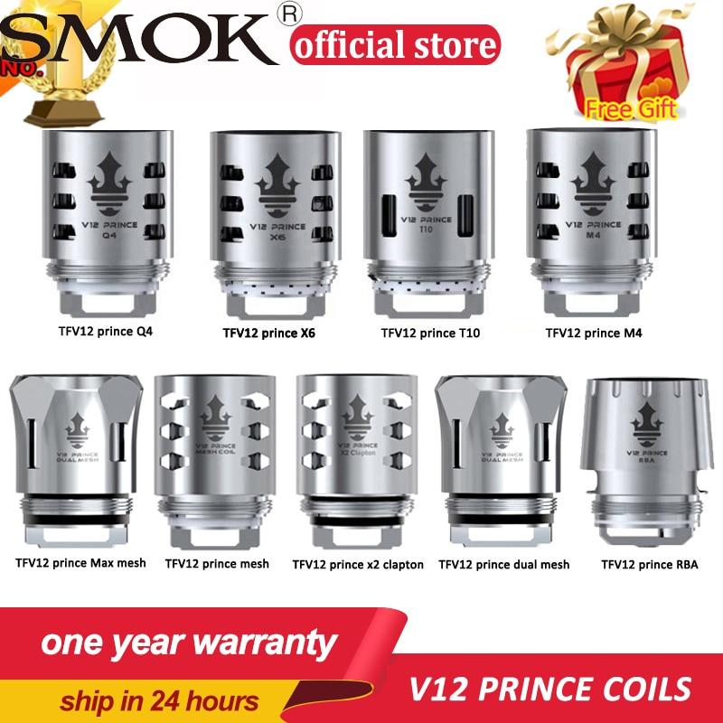 Original SMOK TFV12 Prince Coil V12 Prince RBA Q4 M4 X6 T10 Mesh dual mesh Core for TFV12 PRINCE Tank Eletronic Cigarette Cores(China)