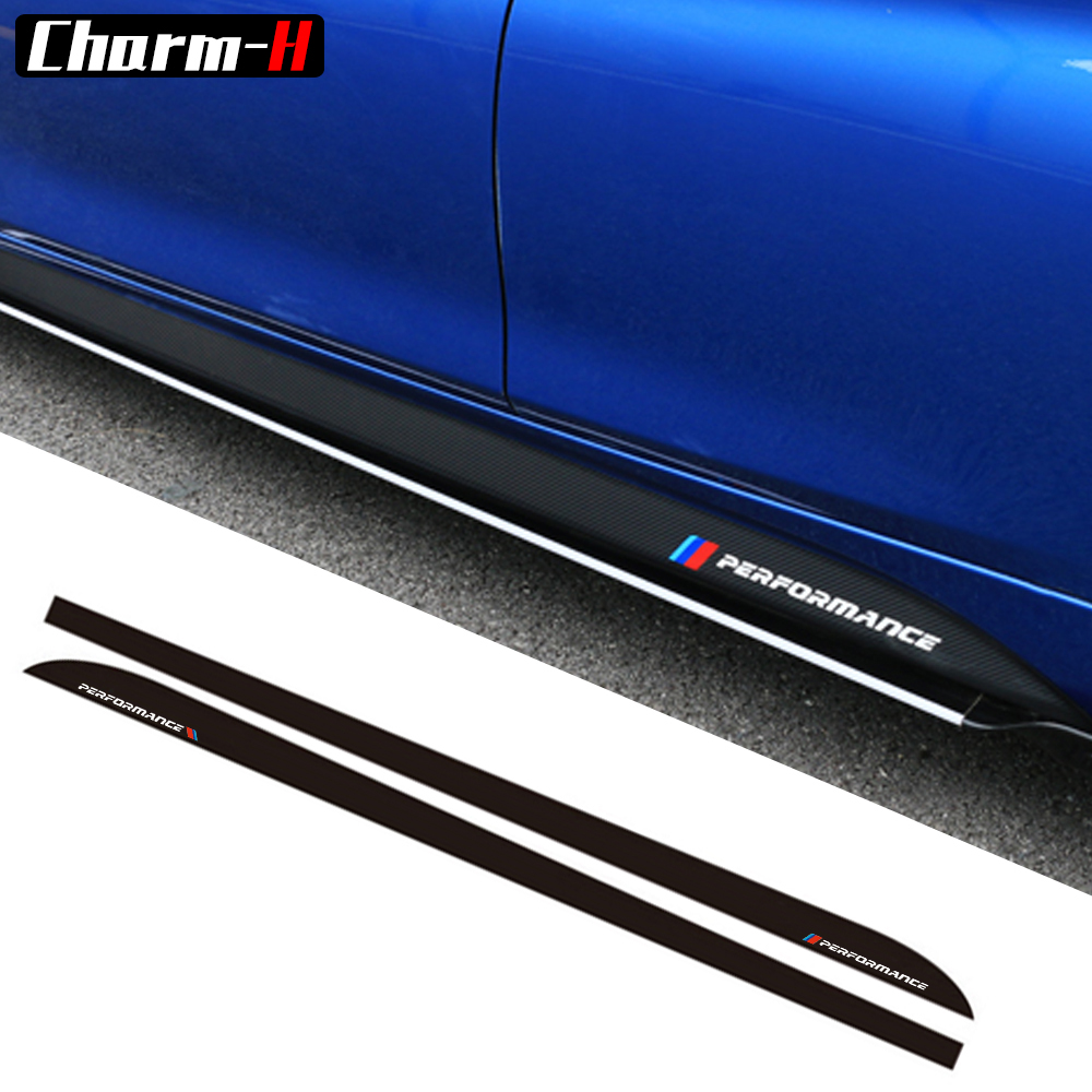 Car Styling Newest M Performance Side Stripe Skirt Sill Sticker Decal for BMW f30 f31 x5 f15 f85 e60 e61 f22 e90 f10 f11 f01 f02