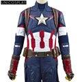 Мстители капитан Америка Костюмы Age of Ultron Стив Роджерс Косплей Костюм Супермена Battlesuit Хэллоуин Равномерное Наряд