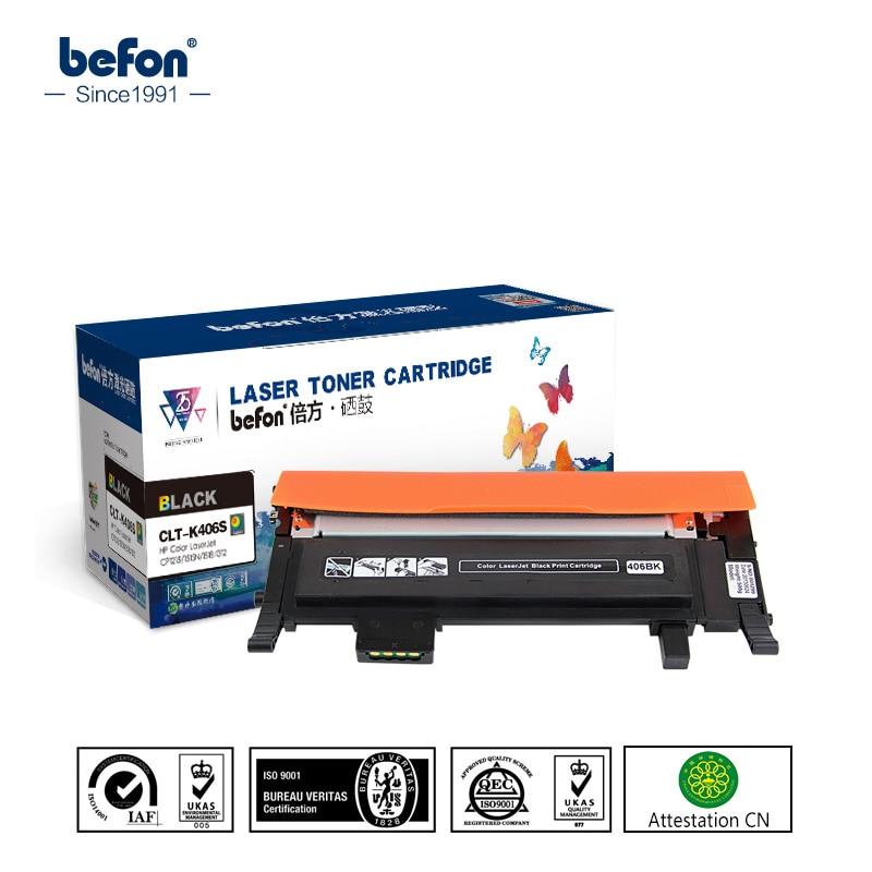 befon 4pcs/Set 406 Color Toner Cartridge Compatible for Samsung CLT-K406S K406S 406S Xpress CLP-360 365W 366W CLX-3305 3305W тонер картридж черный samsung clp 360 365 365w черный 1500 стр clt k406s see