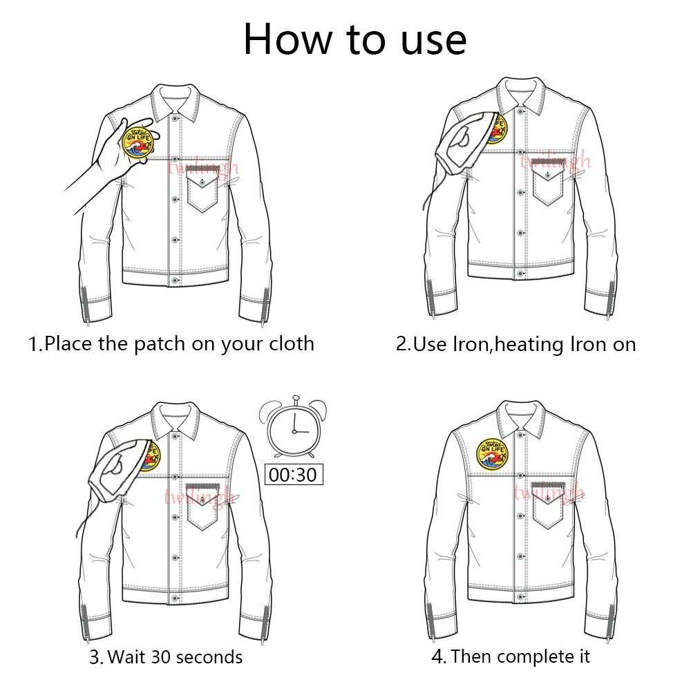 Ferro su Toppe e Stemmi per Abbigliamento piccolo Rosso Bocca Lip lettera a forma di mano del ricamo vestiti di patch per i bambini T-Shirt giacche repasser